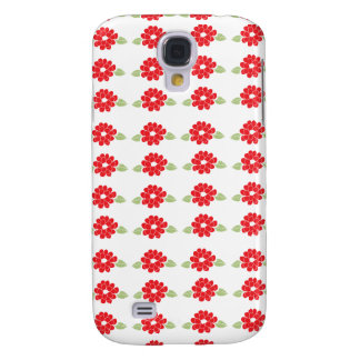 Red Flowers Pattern Galaxy S4 Case