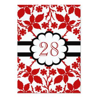 red flowers wedding anniversary card