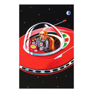 RED FLYING SAUCER STATIONERY