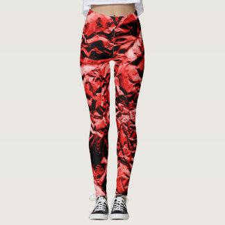 Red Foil #2 Leggings