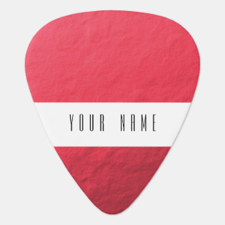 Red Foil Printed Plectrum