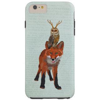 RED FOX ANTLER OWL TOUGH iPhone 6 PLUS CASE
