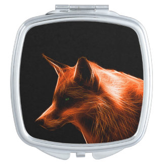 Red Fox Face Makeup Mirror