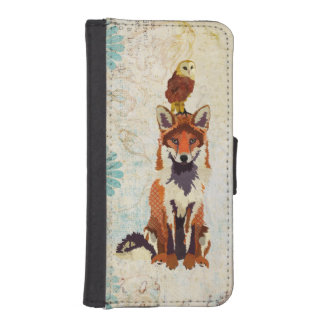 Red Fox Owl Wallet Case iPhone 5 Wallet Case