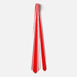 Red Funky Stripe Pattern Tie