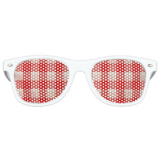 Red Gingham Checkered Pattern Burlap Look