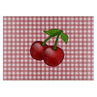 Red Gingham Cherry Cutting Boards