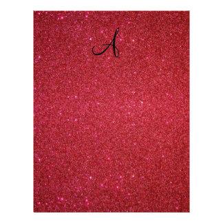 Red glitter 21.5 cm x 28 cm flyer
