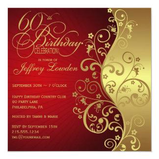 60th Birthday Invitations & Announcements   Zazzle.co.nz