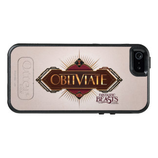 Red & Gold Art Deco Obliviate Spell Graphic OtterBox iPhone 5/5s/SE Case