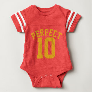 Red & Gold Baby | Sports Jersey Design Baby Bodysuit