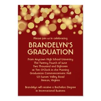 Red Gold Celebration Graduation Announcement