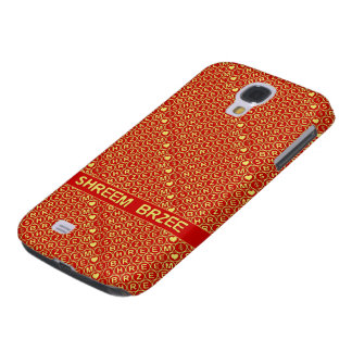 Red Gold Chant Shreem Brzee attract wealth Galaxy S4 Case