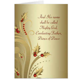 Red Gold Christian Christmas Cards