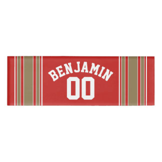 Red Gold Football Jersey Custom Name Number
