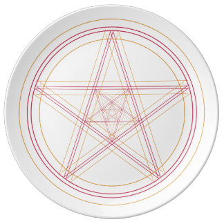 Red & Gold Star Plate