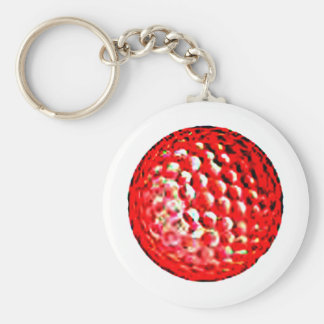 Red Golf Ball1 jGibney The MUSEUM Zazzle Gifts Keychains
