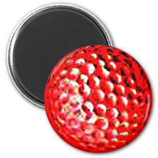 Red Golf Ball1 jGibney The MUSEUM Zazzle Gifts Refrigerator Magnets
