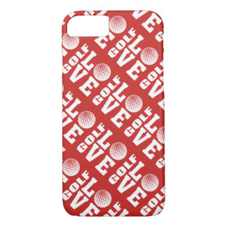 Red Golf Love Pattern iPhone 8/7 Case