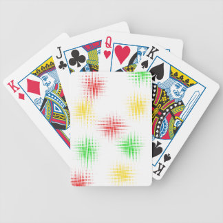 Red, green and yellow bicycle playing cards