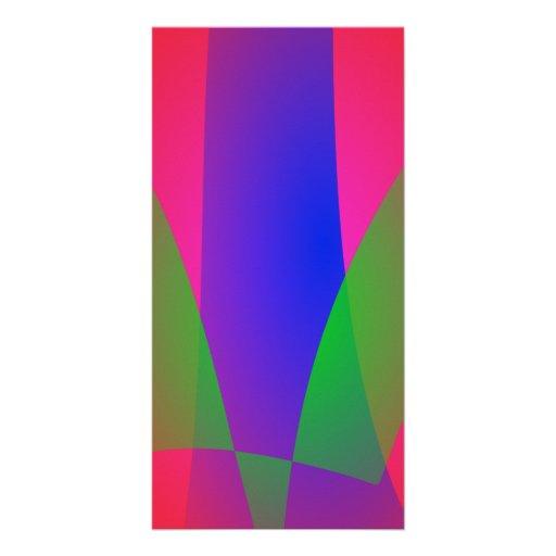 Red Green Blue Vivid Abstract Art Custom Photo Card