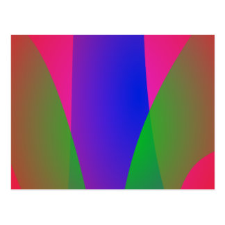 Red Green Blue Vivid Abstract Art Post Card