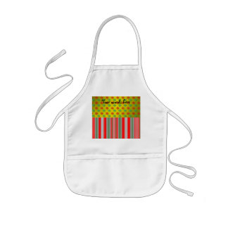 Red green snowflakes with stripes on gold fade aprons
