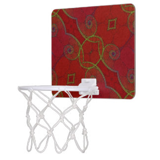 Red Green Twirls Mini Basketball Hoop