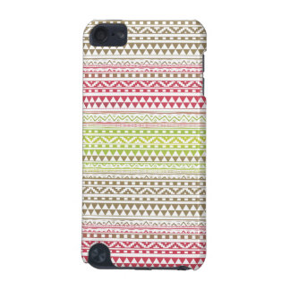 Red Green Watercolor Aztec Tribal Print Pattern iPod Touch 5G Cover