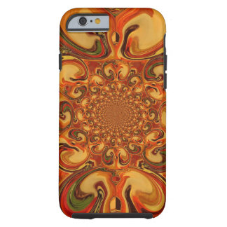 Red green yellow Cool Retro Vintage flowers design Tough iPhone 6 Case