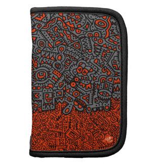 Red, Grey, Black, Folio Mini Planner