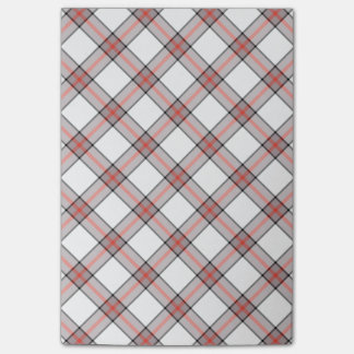 Red/Grey Plaid Post It Notes