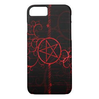 Red Grunge Witch Pentagram iPhone 7 Case
