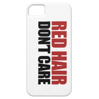 Red Hair Don't Care iPhone 5 Cases