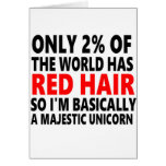 Red Hair Funny Greeting Card
