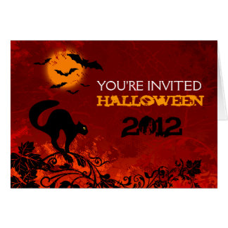 Red Halloween Party Invitations