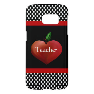 Red Heart Apple Teacher's Samsung Galaxy S7 Case