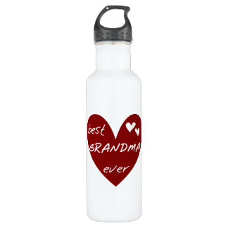 Red Heart Best Grandma Ever Liberty 710 Ml Water Bottle