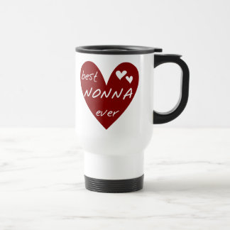 Red Heart Best Nonna Ever T-shirts gifts Travel Mug