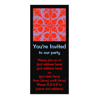 Red Heart Fractal Pattern Small Card
