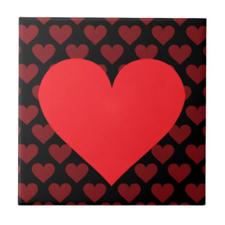 Red Heart - Love, Card Suit, Anatomy Ceramic Tile