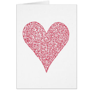 RED HEART NOTE CARD