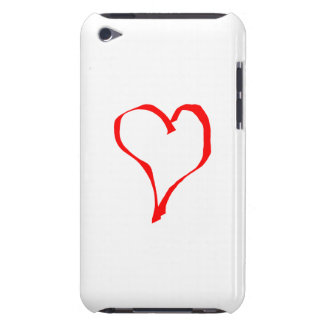 Red Heart on White. Barely There iPod Cover