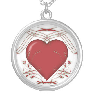 Red Heart & Tribal Graphics: Necklace