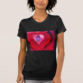 Red Heart Yoga Posture Tshirts