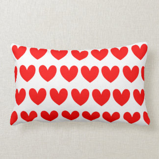 Red Hearts, Abstract Art Print Throw Pillow