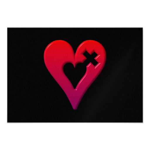 Red Hearts and Cross Announcement