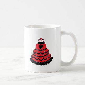 Red Hearts Gothic Cake Coffee Mug