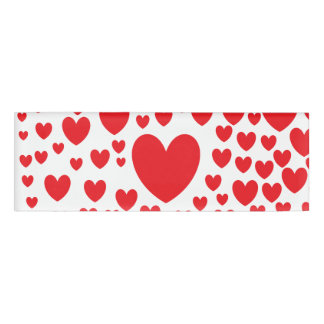 Red Hearts Name Tag