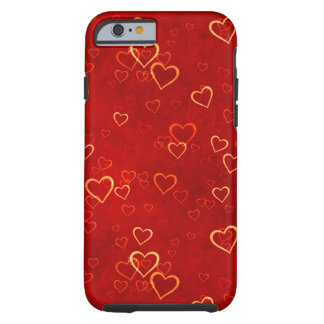 red hearts pattern tough iPhone 6 case